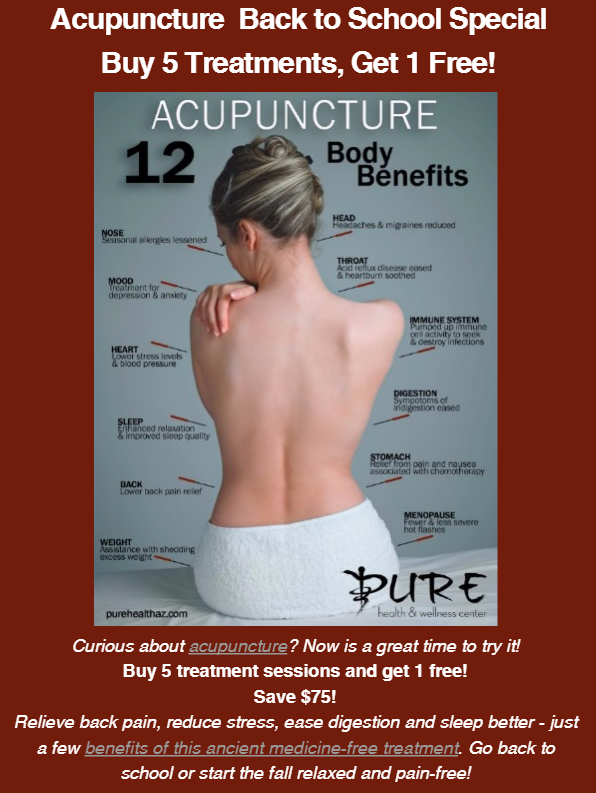 Acupuncture in Anthem - Back to School Special