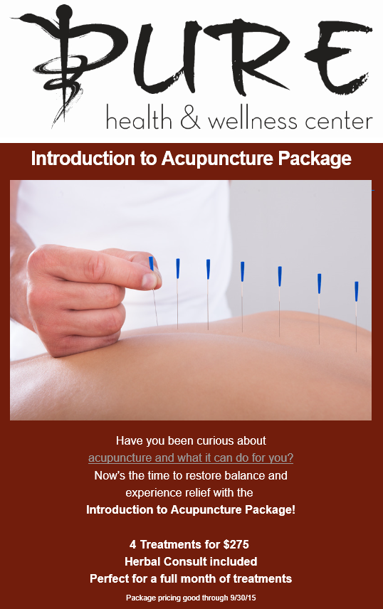 Introduction Package to Anthem Acupuncture