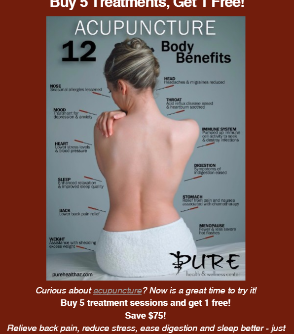 Acupuncture in Anthem: Back to School Special!